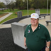 Record-Eagle/Keith King<br /> Jack Pickard, president of the Grand Traverse Area Veterans Coalition, stands Thursday at the Grand Traverse Area Veterans Memorial Park in Traverse City.