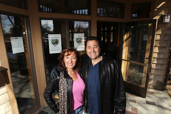 Record-Eagle/Keith King<br /> Jannette Winstanley, left, and Joseph Balsamo Jr., co-own MicDaego's, which is slated to open June 1.