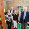 Record-Eagle/Keith King<br /> Deanna Cannon, from left, executive director of Northern Michigan Angels, Lee Gardner, board member and director of marketing at Northern Michigan Angels, Brigette Blanke, controller at Silikids, Stacey Feeley, CEO and co-founder of Silikids and Ron Hurd, chairman of Northern Michigan Angels, stand at Silikids in downtown Traverse City.