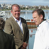 Record-Eagle/Dennis Chase<br /> MSU basketball coach Tom Izzo, right, and AD Mark Hollis were at Bay Harbor for an alumni outing.