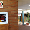 Record-Eagle/Sarah Elms<br /> An AED hangs on a wall at Traverse City Central High School.