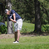 Record-Eagle/Keith King<br /> Traverse City St. Francis' Parker Guss tees off at the Grand Traverse Resort and Spa in Acme.