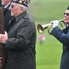 """Record-Eagle/Nathan Payne<br /> Al Ockert plays """"Taps"""" as part of military honors ceremony at a funeral for a veteran. Ockert is part of the VFW Post 2780 honor guard."""