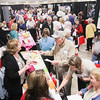 "Record-Eagle/Keith King<br /> Attendees gather during the ""Ideas for Life"" Senior Expo at the Grand Traverse County Civic Center."