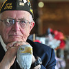 Record-Eagle/Nathan Payne<br /> Korean War veteran Bill Tompkins has been carving canes for other veterans to honor their service for six years.