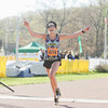 Record-Eagle/Keith King<br /> Tammy Nowik finishes first in the 32nd annual Bayshore women's half marathon.