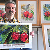 Record-Eagle/Nathan Payne<br /> Adam VanHouten pledged three years ago to dedicate time to his art each week. It is a commitment which helped the Traverse City art teacher win the 2014 National Cherry Festival poster contest.