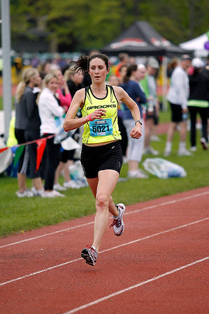 Record-Eagle/Jan-Michael Stump<br /> Ypsilanti's Erin O'Mara won the women's half marathon in 1:24:02.0.
