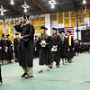 Record-Eagle/Keith King<br /> Students walk toward their seats during graduation.