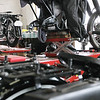 Record-Eagle/Keith King<br /> Motorcycles are situated to be worked on at the Garfield Auto Service Center.