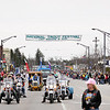 Record-Eagle/Keith King<br /> The National Trout Festival Great Lakes Energy Grand Royale Parade travels Saturday, April 30, 2011 along Cedar Street in Kalkaska.