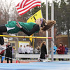 Record-Eagle/Keith King<br /> Traverse City West's Jordyn Severt wins the high jump Friday during the Ken Bell Invitational track meet at Traverse City Central High School. Several records were set at the event.