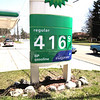 Record-Eagle/Keith King<br /> A regular unleaded gasoline price is displayed at the BP gas station Friday at the intersection of Munson Avenue and Eighth Street.