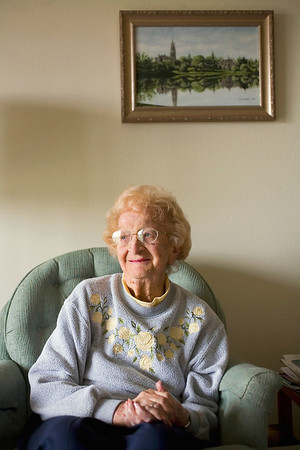 Record-Eagle/Jan-Michael Stump<br /> Acme resident Jeanne Maas' first day as a hospital dietician in London during WWII was on D-Day.