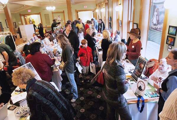 Record-Eagle/Keith King<br /> Attendees gather Saturday, November 10, 2012 during the annual Traverse City Children's Book Festival at the City Opera House.