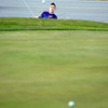 Record-Eagle/Keith King<br /> Payden Myers, 16, of Traverse City, takes advantage of the mild temperatures by practicing golf Tuesday, November 16, 2010 at Elmbrook Golf Course.