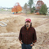 Record-Eagle/Keith King<br /> <br /> John Niedermaier, president and brew master of Brewery Terra Firma, stands Wednesday, October 24, 2012 in Garfield Township where work has begun on the brewery and taproom.