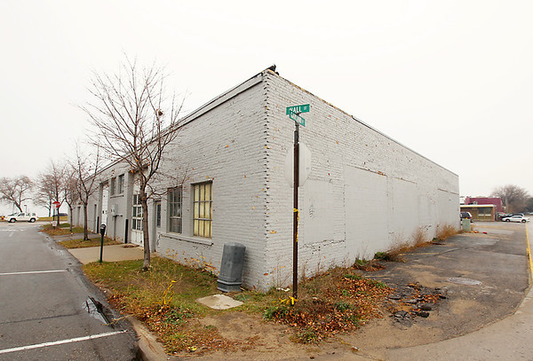 Record-Eagle/Keith King<br /> The site of the proposed Hotel Indigo Tuesday, November 20, 2012 at the intersection of Hall Street and Garland Street in the Warehouse District of Traverse City.