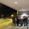 Record-Eagle/Bill O'Brien<br /> Black Friday shoppers wait outside for a store to open.