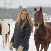 Record-Eagle/Anne Stanton<br /> Jennifer Donohue and her family faced the prospect of hauling water for their six horses on Thanksgiving Day.