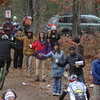 Record-Eagle/Keith King<br /> Volunteers offer fruit and beverages to riders Saturday, November 2, 2013 near Williamsburg Road during the 24th annual Iceman Cometh Challenge bicycle race.