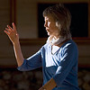 Record-Eagle/Jan-Michael Stump<br /> Jane Hale, of Traverse City, leads a tai chi class at the Old Art Building in Leland. Hale, who has about 30 years of experience teaching tai chi, is in her second year teaching this class, which is underwritten by a grant from the Leelanau Commission on Aging.