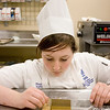 Record-Eagle/Keith King<br /> Monica Vallier, a student at the Great Lakes Culinary Institute, carves a piece of gingerbread Thursday, November 4, 2010 which will be used in her, and her partner's, entry for the 2010 Northern Michigan Great Lakes Culinary Institute Gingerbread Competition.