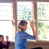 Record-Eagle/Jan-Michael Stump<br /> Jane Hale leads Kathy Powell, of Cedar, and others in her tai chi class.