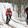 Record-Eagle/Keith King<br /> Curt Potocki, right, of Romeo, and Mike Franskoviak, of Clarkston, compete in the 21st annual Iceman Cometh Challenge on Saturday.