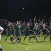 Record-Eagle/Keith King<br /> Traverse City West celebrates after Alex Patten (2) scores a goal against Traverse City Central Wednesday, October 16, 2013 in Traverse City.