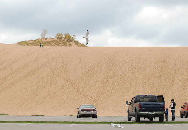 Record-Eagle/Keith King<br /> The Sleeping Bear Dunes National Lakeshore Dune Climb Thursday, October 17, 2013 in Leelanau County.