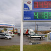 Record-Eagle/Keith King<br /> The price for a gallon of regular unleaded gasoline is displayed at $3.49 Thursday, October 18, 2012 at the Marathon station at the intersection of Hammond Road and Garfield Road in Traverse City.