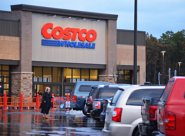 Record-Eagle/Dan Nielsen<br /> A shopper leaves the Costco store in Traverse City.
