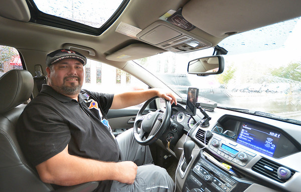 Record-Eagle/Dan Nielsen<br /> Steve Schwander recently launched Odawa County Taxi Cab.