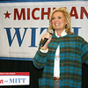 Ann Romney speaks Monday at a rally in Traverse City, Mich., attended by more than 550 people at the Park Place Hotel. It was the first of two campaign stops. The other rally was in Grand Rapids.
