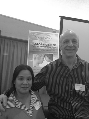 Record-Eagle/Anne Stanton<br /> Joe Lackie spoke at the Park Place about finding solace at Michael's Place. He's pictured here with his wife, Elena.