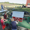 Record-Eagle/Keith King<br /> Traverse City Area Public Schools (TCAPS) Oak Park Preschool students enjoy themselves Wednesday, October 2, 2013 during a field trip at Gallagher's Farm Market.