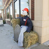"Record-Eagle/Keith King<br /> A scarecrow is displayed Wednesday, October 9, 2013 in front of the EJ (East Jordan Iron Works) visitor center in downtown East Jordan for the ""Scarecrows Across the Breezeway"" contest."