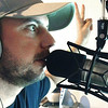 """Record-Eagle/Nathan Payne<br /> Mike Moran counts down to the start of the second segment of recording of this week's """"Drink My Brewcast"""" podcast in his basement studio."""