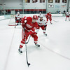 Record-Eagle/Keith King<br /> The Detroit Red Wings'  Louis-Marc Aubry tries to keep the puck away from the Carolina Hurricanes' Victor Rask Wednesday, September 14, 2011 during the annual National Hockey League Prospect Tournament at Centre ICE in Traverse City.