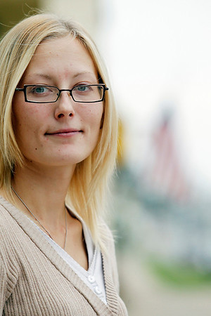 Record-Eagle/Jan-Michael Stump<br /> Alexis Tripp, of Rapid River, sees the 9/11 attacks as her generation's John F. Kennedy assassination.