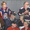 Record-Eagle/Jan-Michael Stump<br /> Bonnie and Bob Vezino, of Lowell, top row center, watch the Detroit Red Wings prospects take on Columbus.