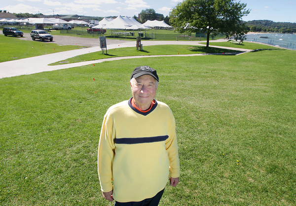 Record-Eagle/Keith King<br /> Lou Colombo, of Traverse City, stands Friday, September 13, 2013 at the Open Space in Traverse City.