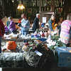 Record-Eagle/Keith King<br /> People browse and purchase a variety of items at the historic Glass Barn in Leland Township Saturday, September 14, 2013 during the Mega Barn Sale to benefit ShareCare of Leelanau, Inc.