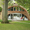 Record-Eagle/Loraine Anderson<br /> The front of the Wright's  dome house faces Lake Ann.