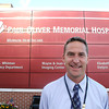 Record-Eagle/Glenn Puit<br /> Peter Marinoff stands in front of Paul Oliver Memorial Hospital.