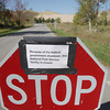 Record-Eagle/Keith King<br /> A sign relating to the government shutdown is displayed at the entrance to the Sleeping Bear Dunes National Lakeshore Dune Climb Tuesday, October 1, 2013 in Leelanau County.