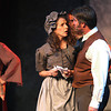 Record-Eagle/Nathan Payne<br /> Susan and Brian Johnson play opposite each other during a recent dress rehearsal of the play Les Miserables at the Old Town Playhouse. The couple and their daughters, Jaden and Hannah, are among a handful of families cast in the production that begins public performances tonight.
