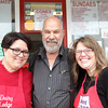 Record-Eagle/Nathan Payne<br /> Patrice Korson, Ray Popp and Stacey Popp stand outside the Dairy Lodge, the ice cream stand Carol Popp owned and operated for 28 years before she died in August.