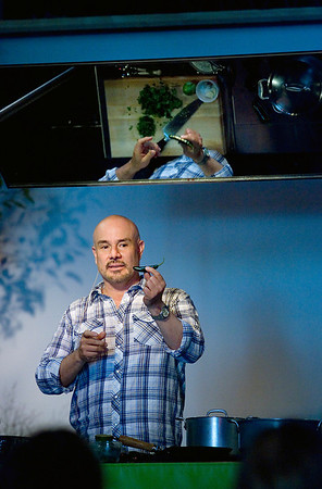 Record-Eagle/Keith King<br /> Roberto Santibanez delivers a presentation on Friday during the Epicurean Classic in Traverse City.